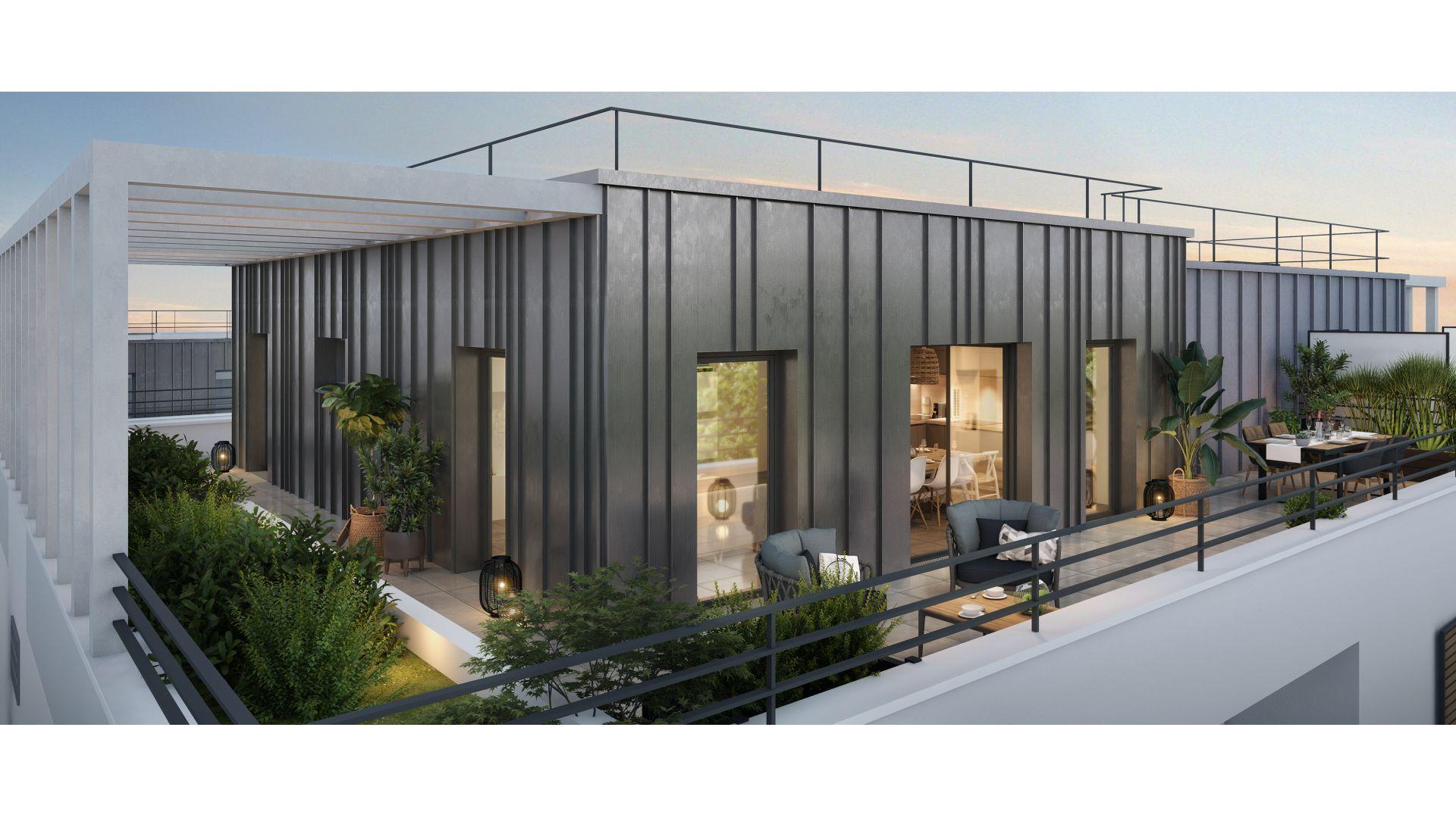 Greencity Immobilier - Résidence Le Régent - achat appartements du T1au T4 - Bagnolet 93170 - vue terrasse