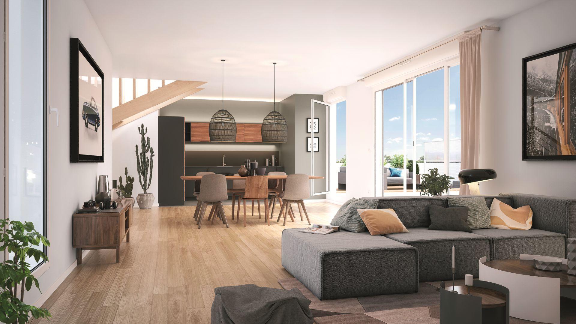 GreenCity Immobilier - Asnières sur seine - 92600 - Résidence Le Renan - appartements neufs du T2 au T5 Duplex - vue intérieure