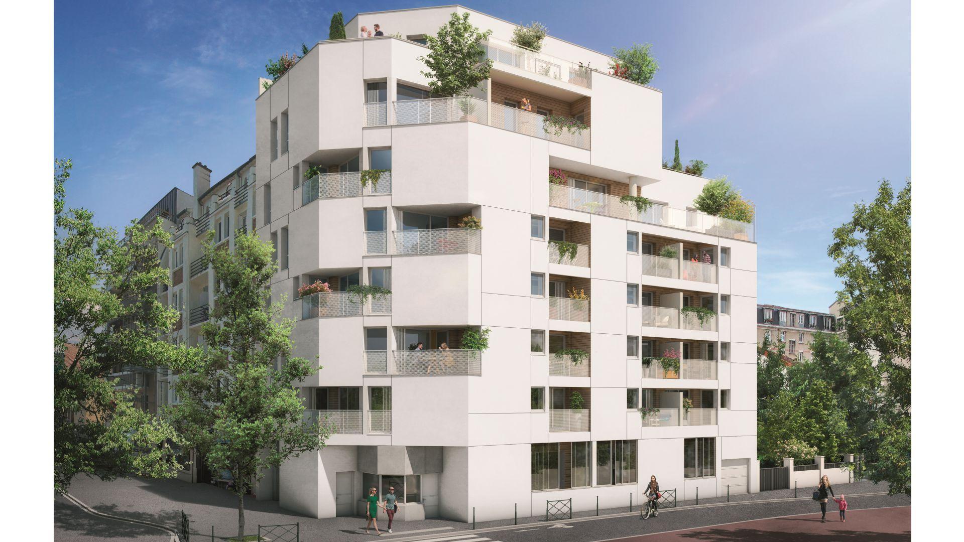 GreenCity Immobilier - Asnières sur seine - 92600 - Résidence Le Renan - appartements neufs du T2 au T5 Duplex