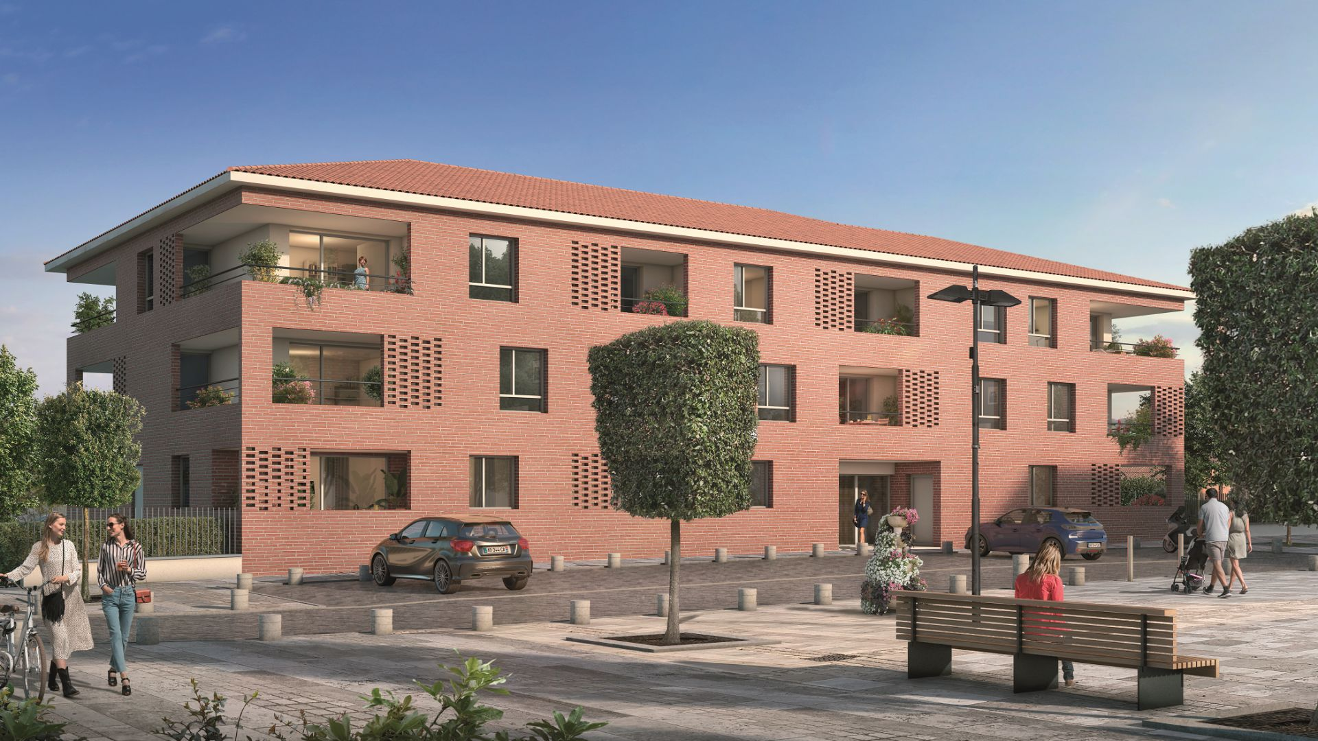 Greencity Immobilier - Le Rialto - achat appartements du T1 bis au T3 - Eaunes - Muret 31600