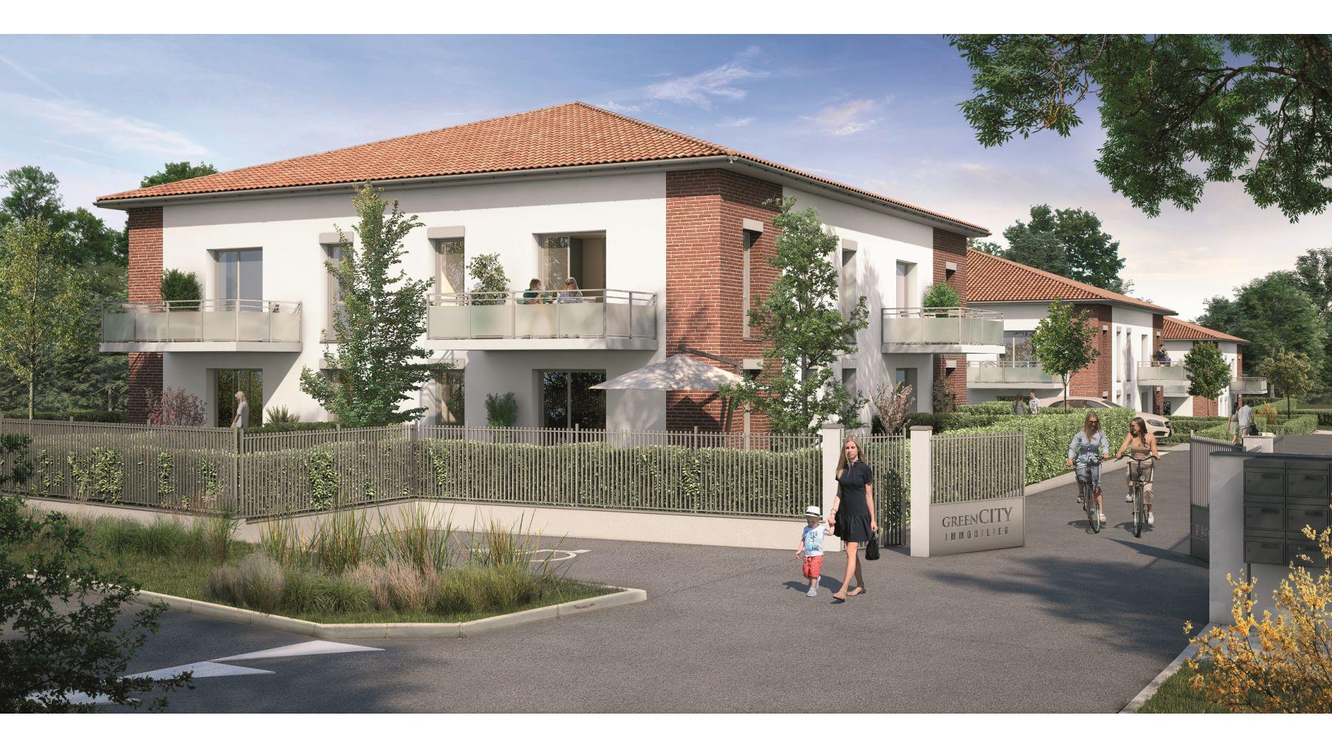 Greencity Immobilier - Le Roncevaux - achat appartements du T2 au T3 - Pechbonnieu 31140