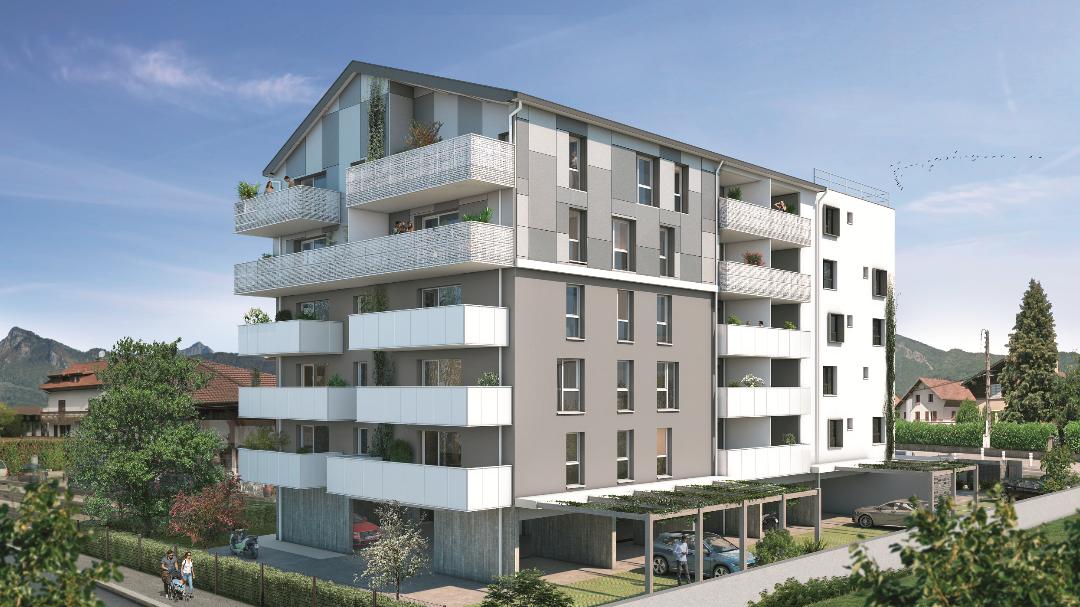Greencity Immobilier - Résidence Le Saphir - 74300 Cluses - appartements neufs a vendre du T2 au T4