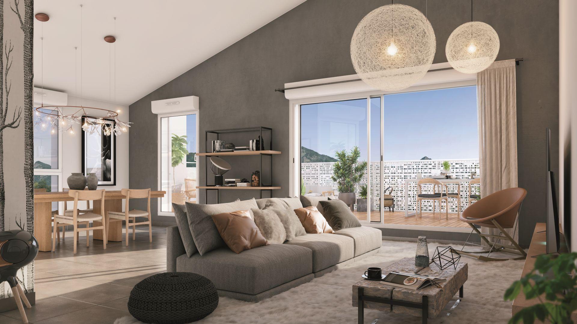 Greencity Immobilier - Résidence Le Saphir - 74300 Cluses - appartements neufs a vendre du T2 au T4 - vue intérieure