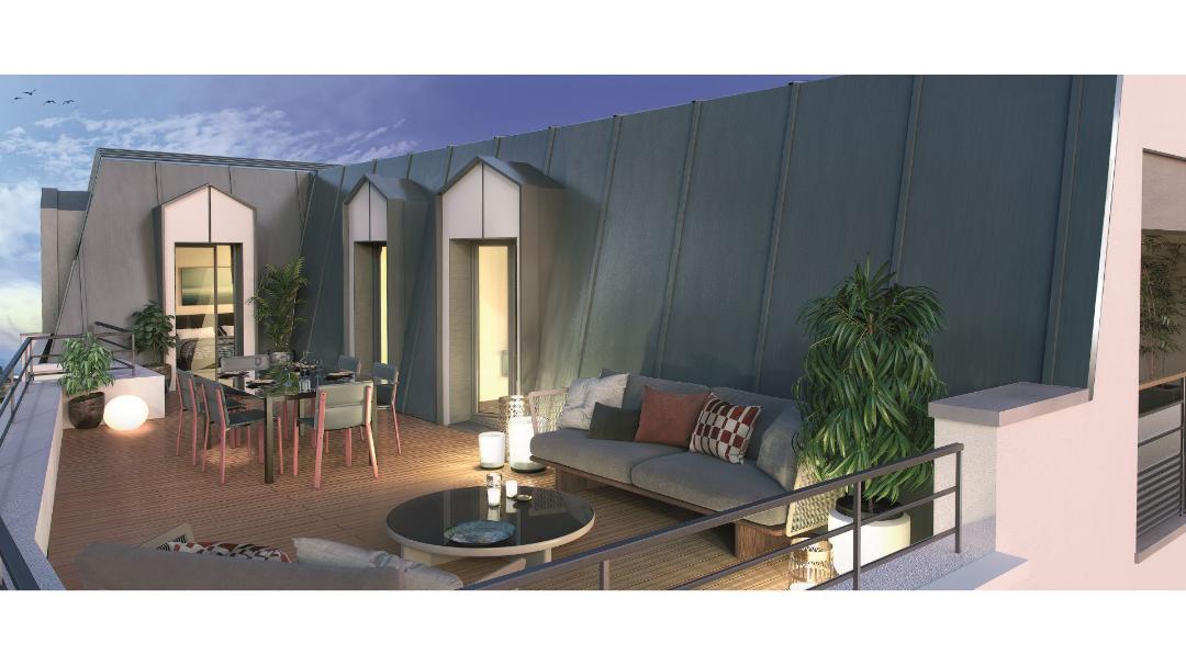 Greencity immobilier - Savigny sur Orge 91600 - résidence Le Savini - appartements du T1 au T4 - vue terrasse