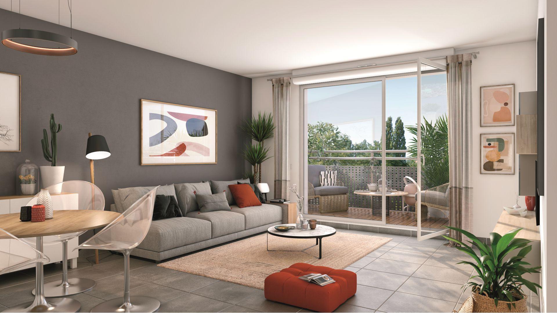 Greencity Immobilier - Le Sisley - achat appartements du T2 au T4 - Pontault-Combault 77340 - vue intérieure