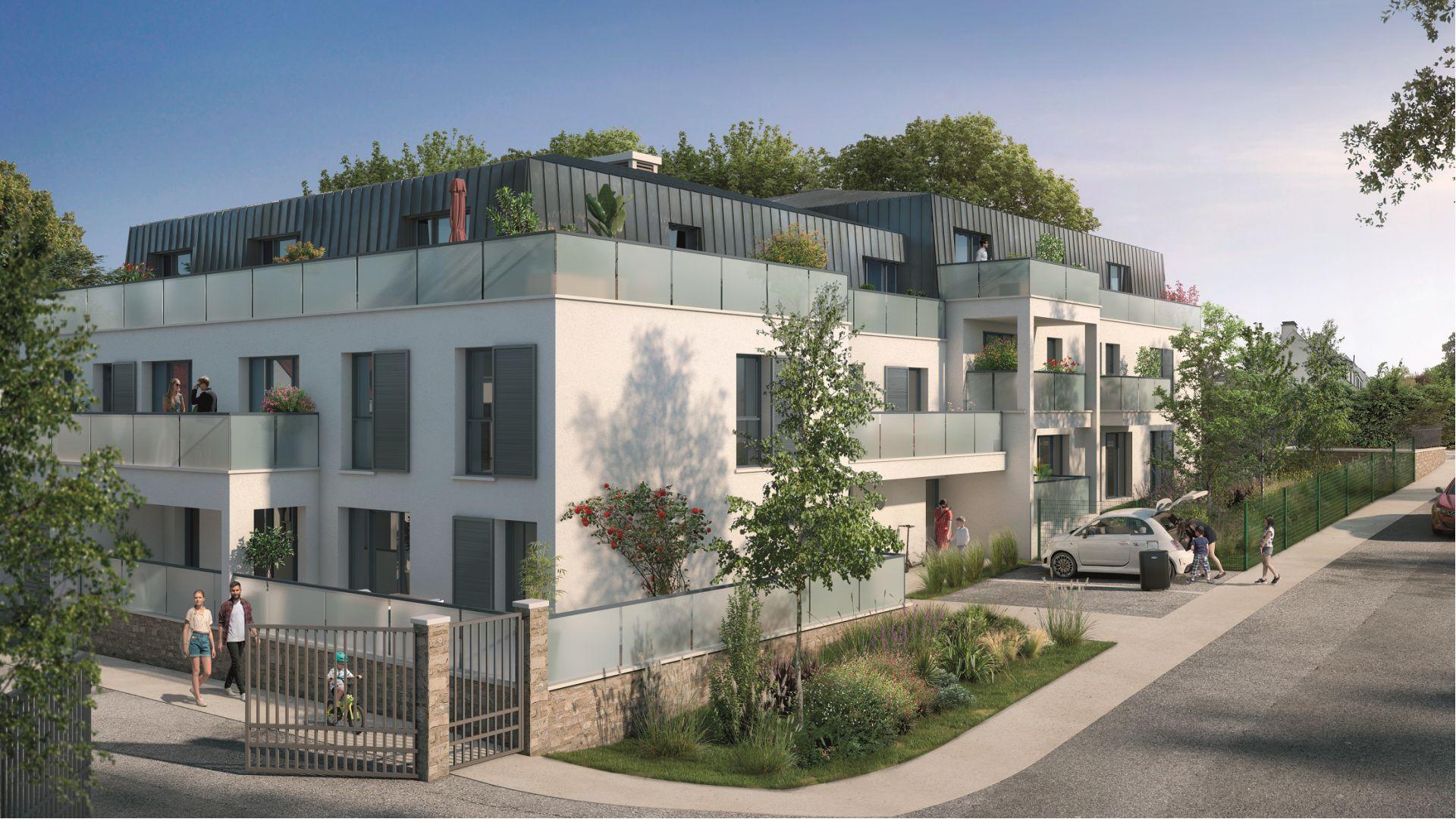 Greencity Immobilier - Le Stendhal - Cesson 77240 - achat appartements du T1 au T4 - Villa T4 et T5