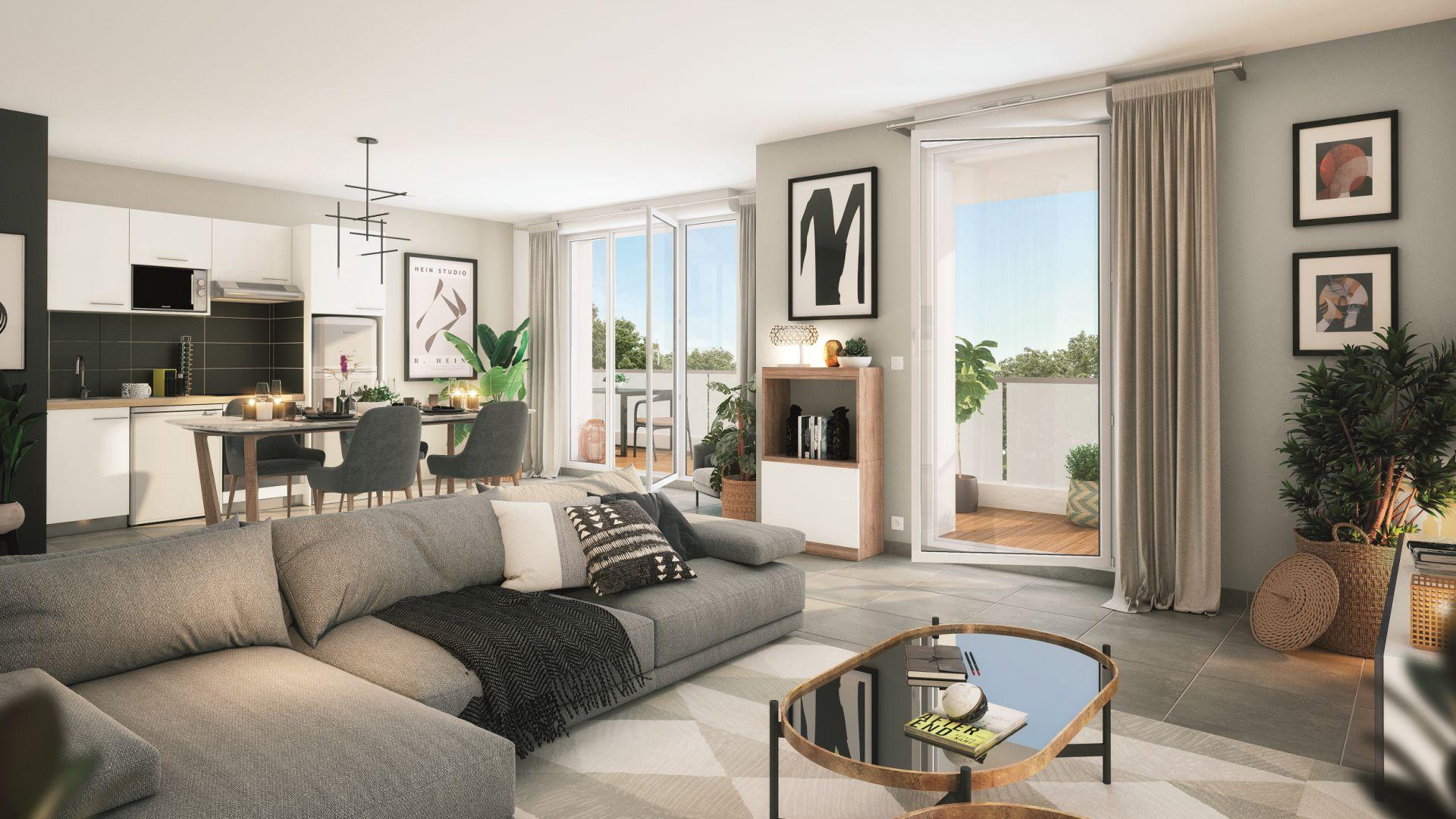 Greencity Immobilier - Le Stendhal - Cesson 77240 - achat appartements du T1 au T4 - Villa T4 et T5  - vue intérieure