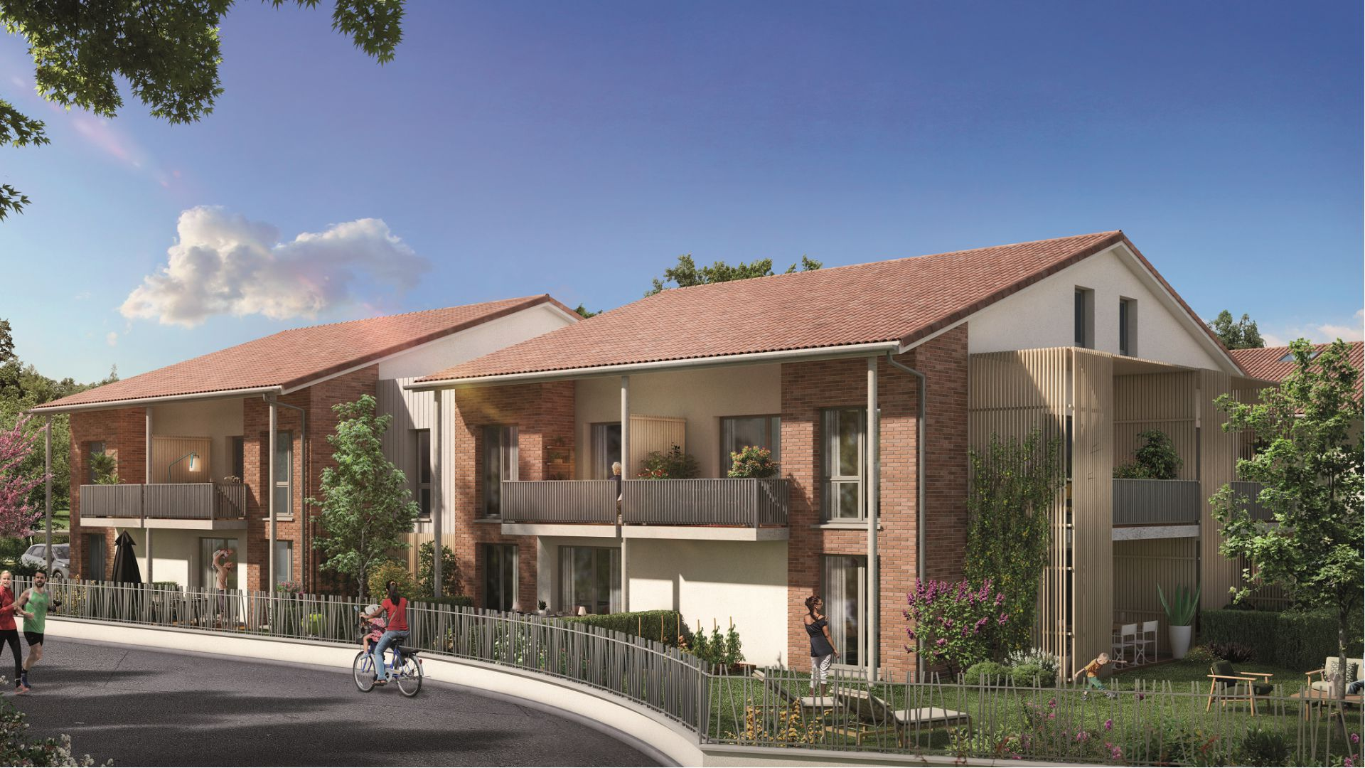 GreenCity immobilier - achat appartement neuf Toulouse Saint-Simon - 31100 - Résidence Val'oriane - T2 - T3 - T4
