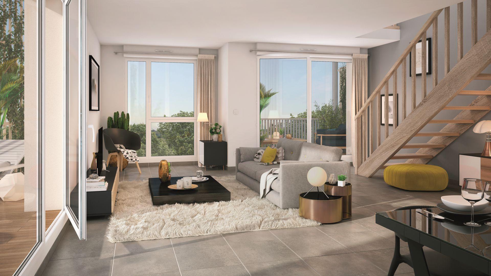 GreenCity immobilier - achat appartement neuf Toulouse Saint-Simon - 31100 - Résidence Val'oriane - T2 - T3 - T4 - vue intérieure