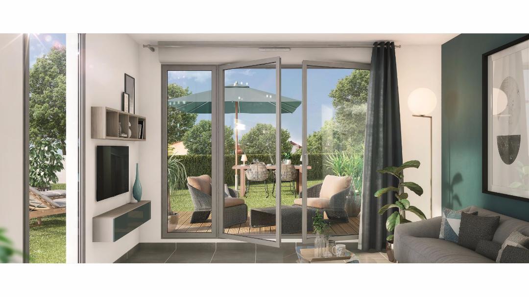 Greencity Immobilier - Le Victoria - Beauchamps - 95250 - Terrasse