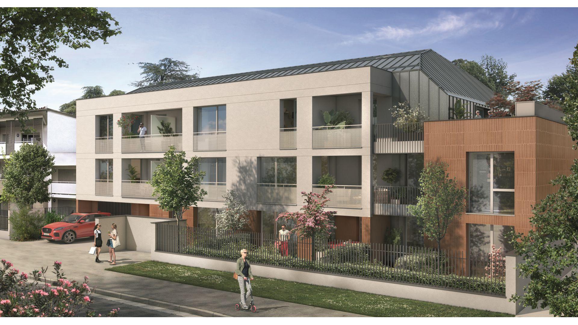 Greencity Immobilier - Résidence Les Camélias - Toulouse Croix Daurade 31200 - à vendre appartements - immobilier neuf du T2 au T4 Duplex -