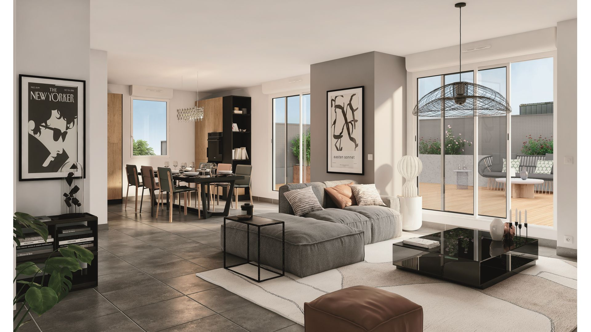 Greencity Immobilier - Résidence Les Camélias - Toulouse Croix Daurade 31200 - à vendre appartements - immobilier neuf du T2 au T4 Duplex - vue intérieure