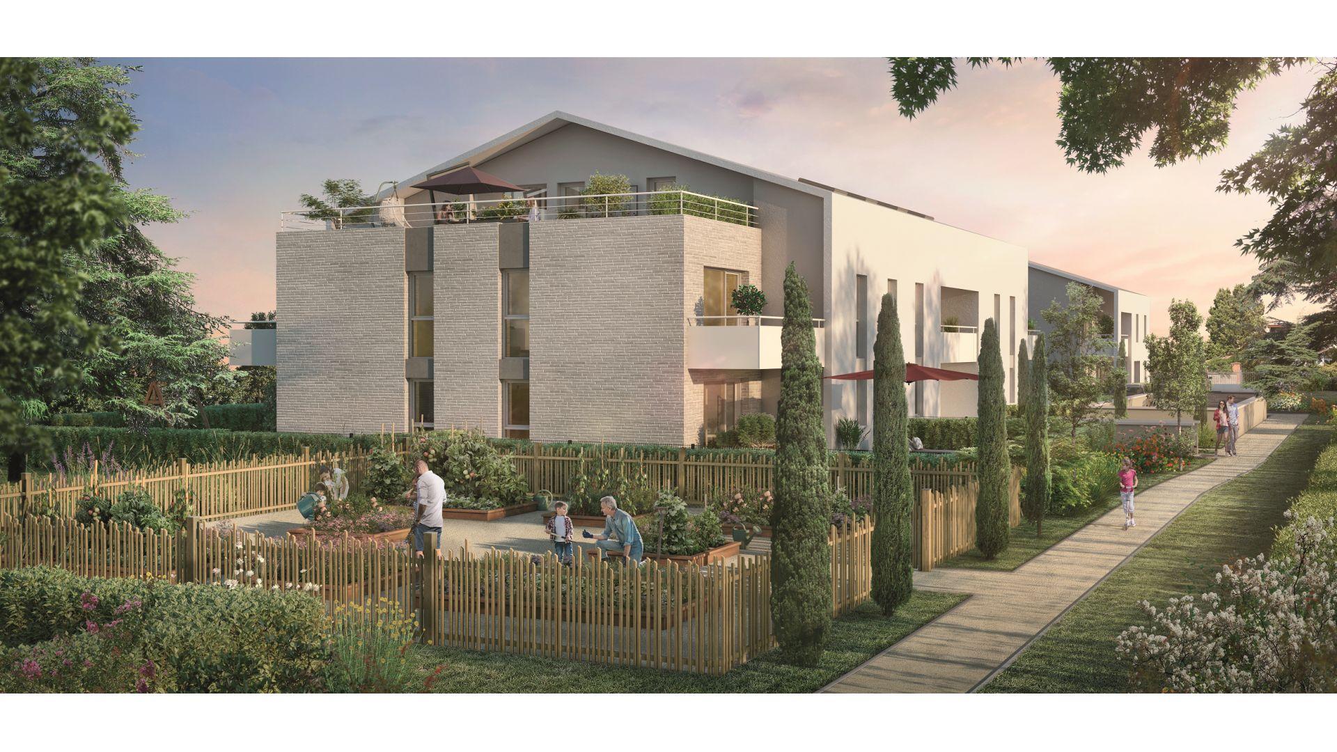 Greencity Immobilier - Toulouse Lardenne - 31100 - Les Cèdres Bleus - achat appartements du T2 au T4