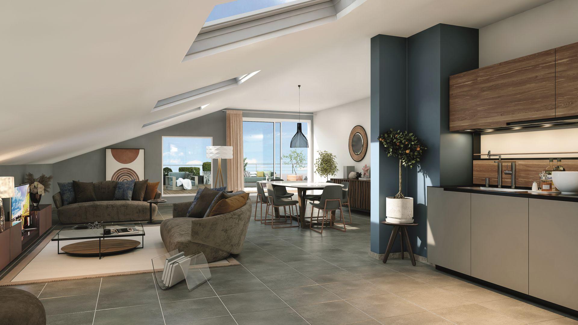 Greencity Immobilier - Toulouse Lardenne - 31100 - Les Cèdres Bleus - achat appartements du T2 au T4 - vue intérieure