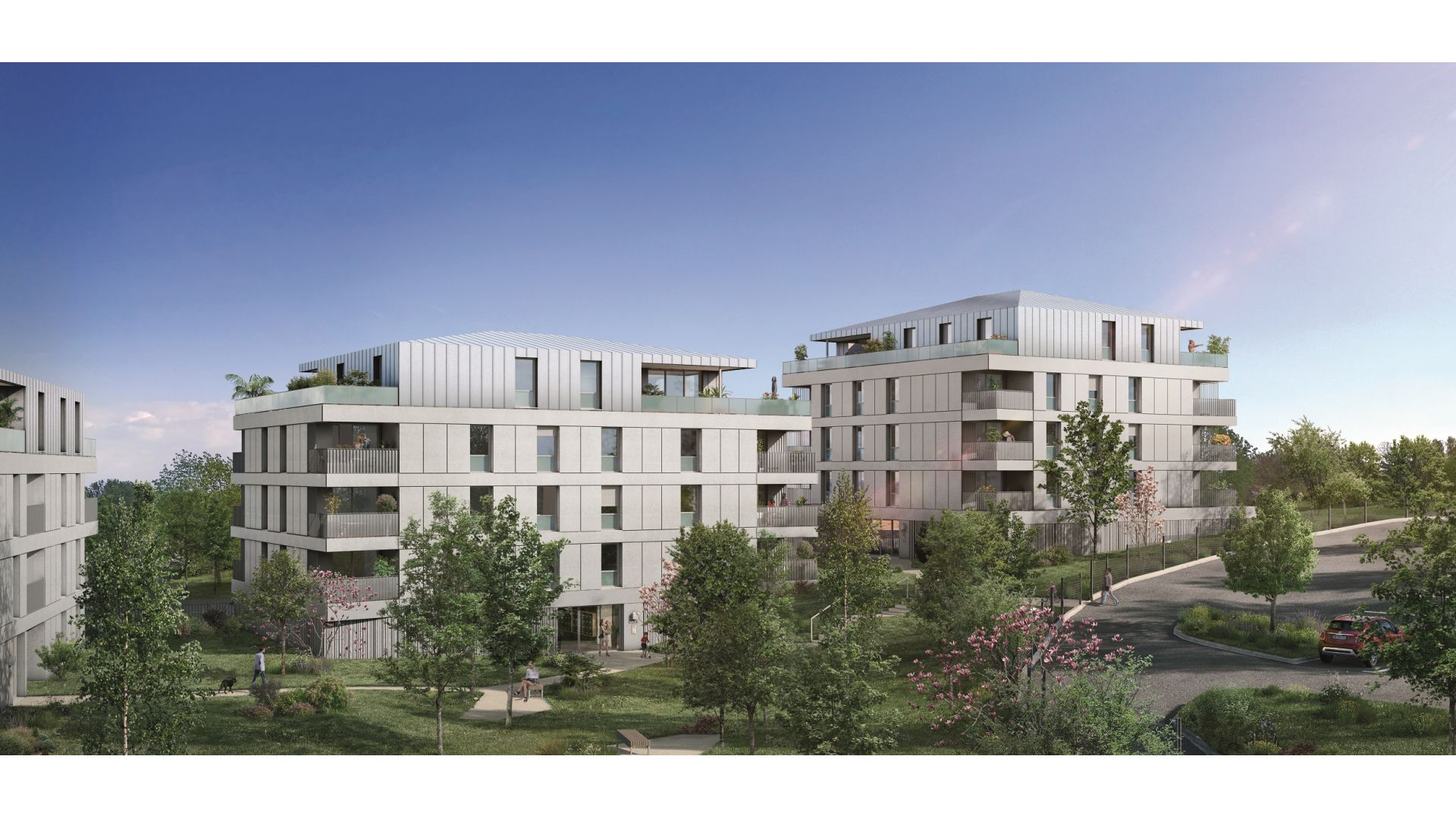 Greencity Immobilier - Résidence Les Jardins de Pouvourville - 31200 Toulouse Pouvourville - a vendre appartements du T2 au T4