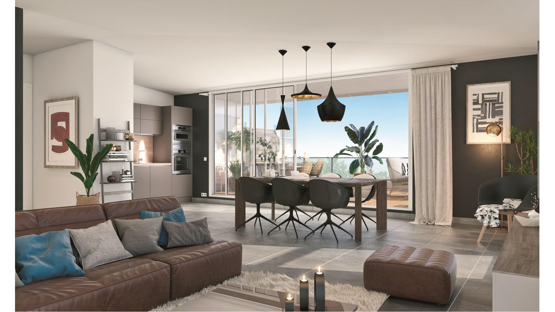 Greencity Immobilier - Résidence Les Jardins de Pouvourville - 31200 Toulouse Pouvourville - a vendre appartements du T2 au T4 - vue intérieure
