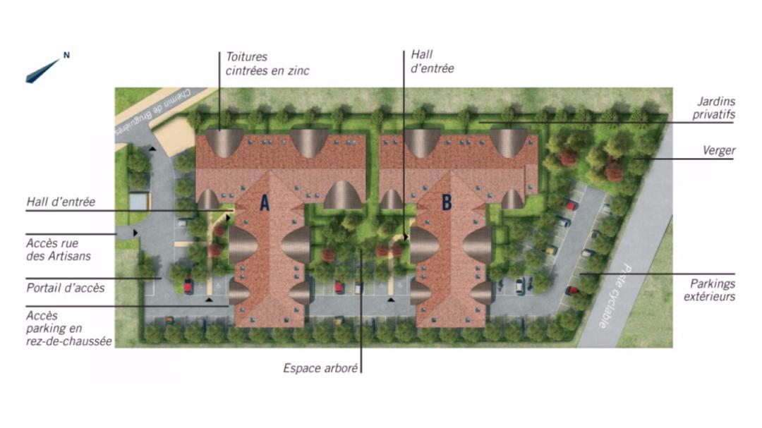 GreenCity Immobilier - Les Portes du Soleil - Fenouillet 31150 - plan de masse