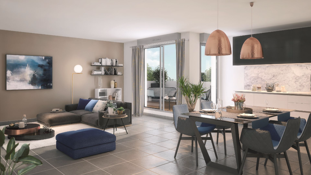 Greencity Immobilier - Les Terrasses de Mathilde - Tournefeuille - 31170 - intérieur