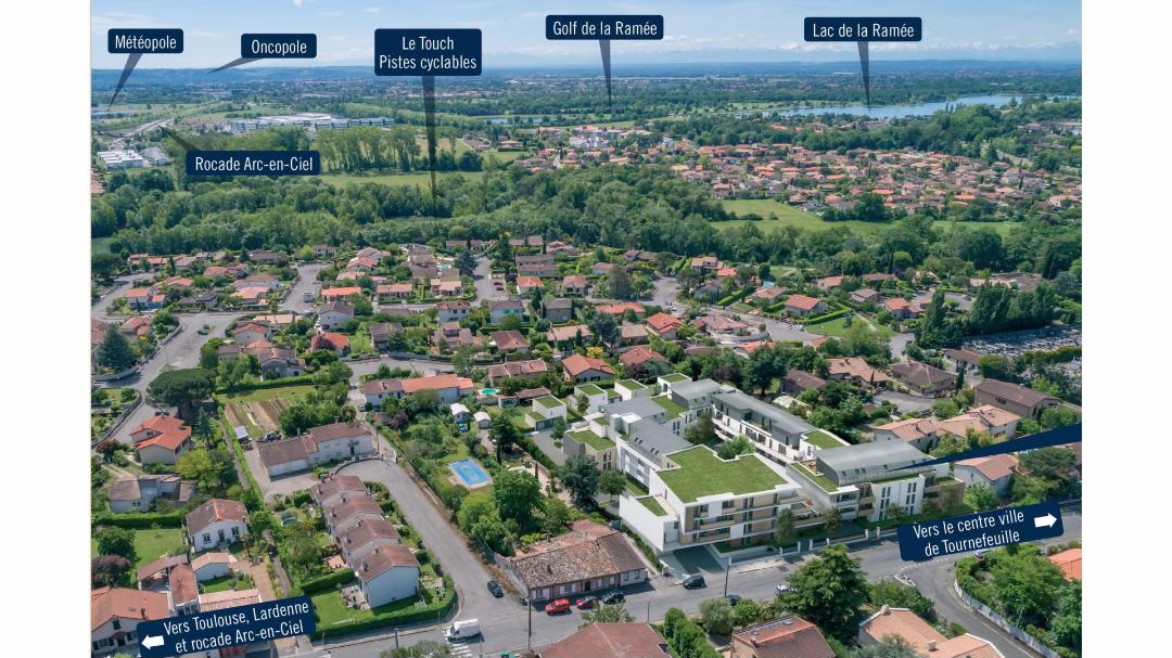 Greencity Immobilier - Les Terrasses de Mathilde - Tournefeuille - 31170 - vue paysagère