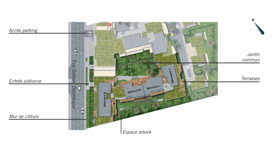 Greencity Immobilier - Les Terrasses de Mathilde - Tournefeuille - 31170 - plan de masse