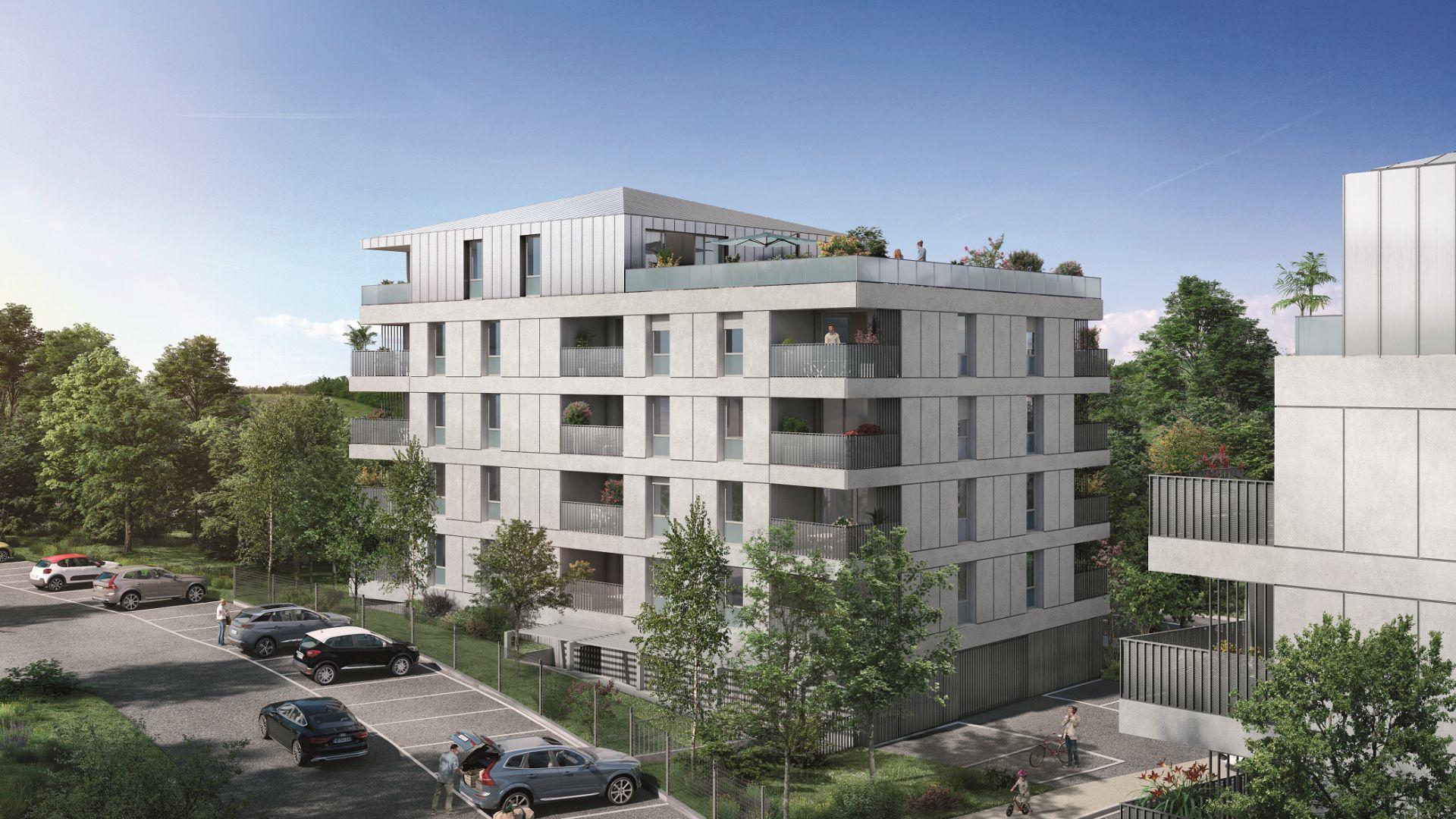 Greencity Immobilier - Résidence Parc du Vallon - 31200 Toulouse Pouvourville - a vendre appartements du T2 au T5