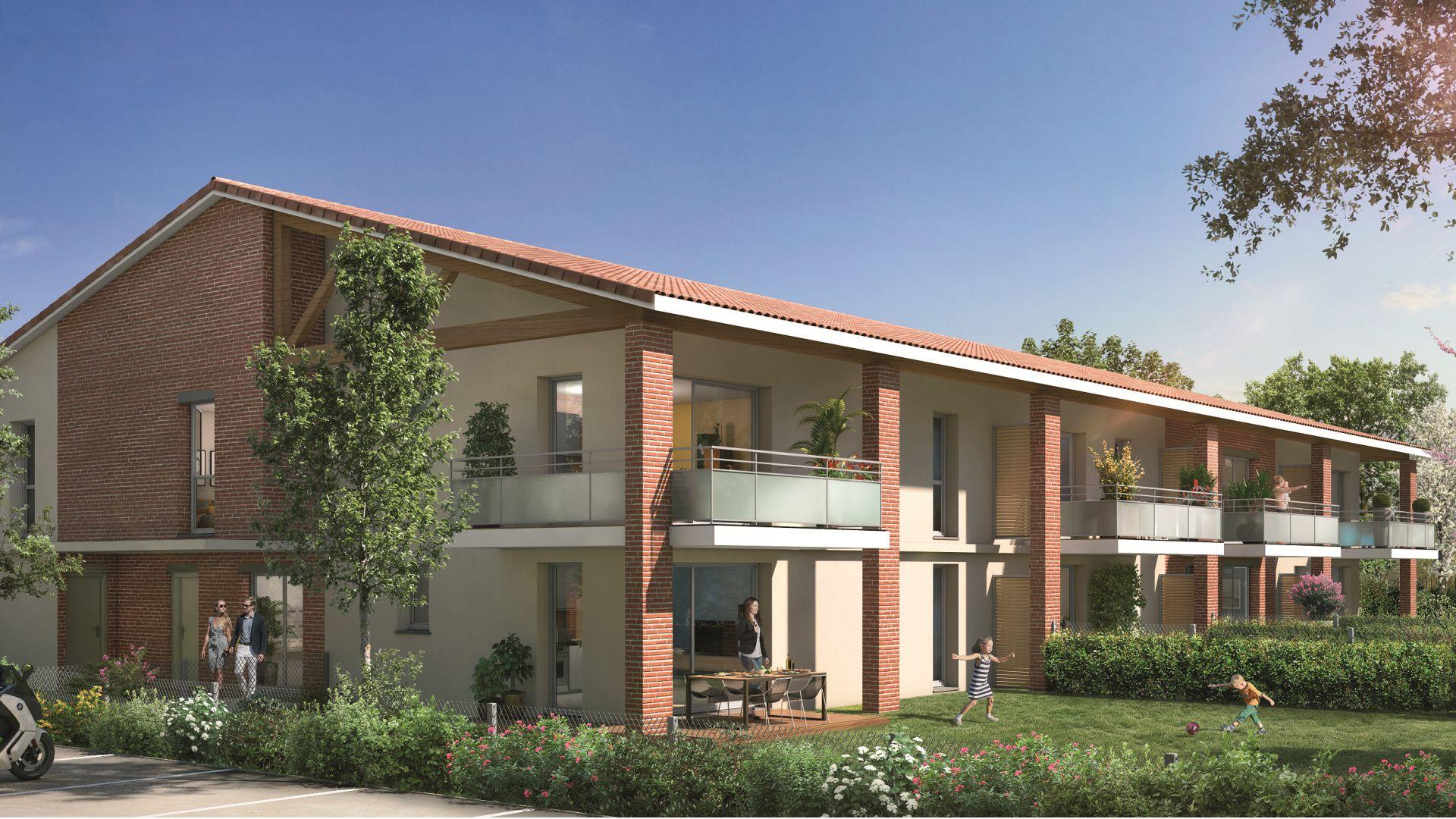 GreenCity immobilier - Tournefeuille 31170 - Résidence Parc Rimbaud - appartements et villas neufs du T2 au T5
