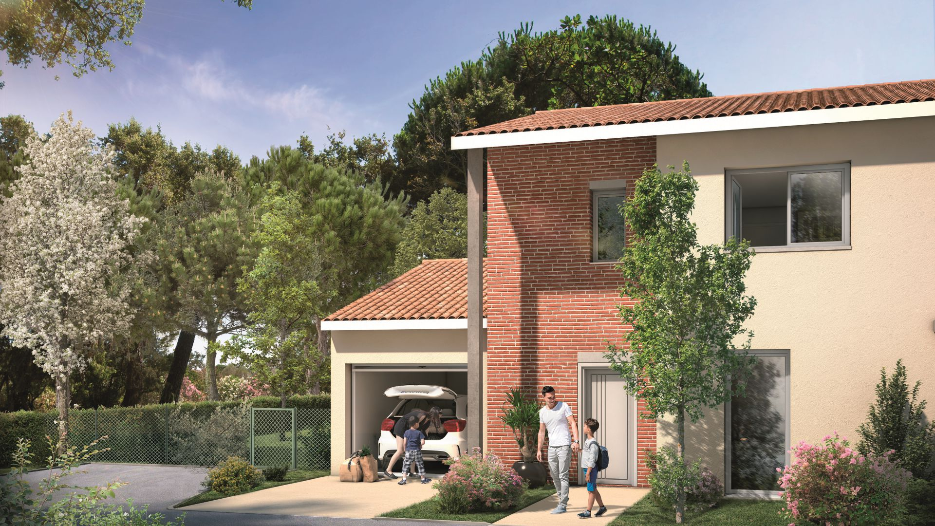 GreenCity immobilier - Tournefeuille 31170 - Résidence Parc Rimbaud - appartements et villas neufs du T2 au T5 - villa T5