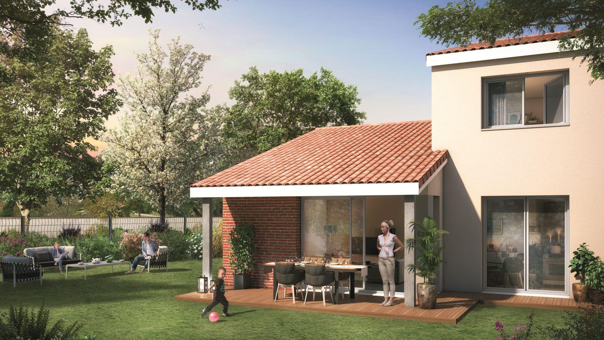 GreenCity immobilier - Tournefeuille 31170 - Résidence Parc Rimbaud - appartements et villas neufs du T2 au T5 - villa T4