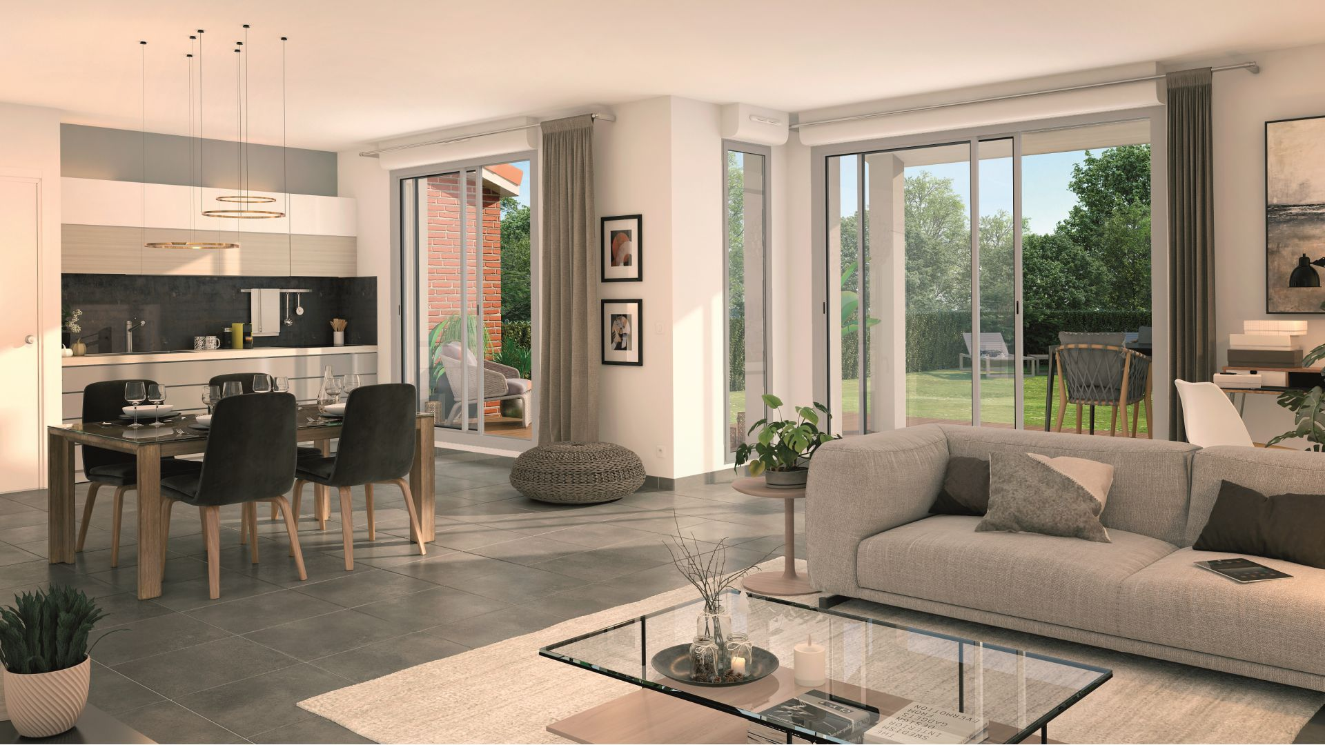 GreenCity immobilier - Tournefeuille 31170 - Résidence Parc Rimbaud - appartements et villas neufs du T2 au T5 - intérieur villa T4