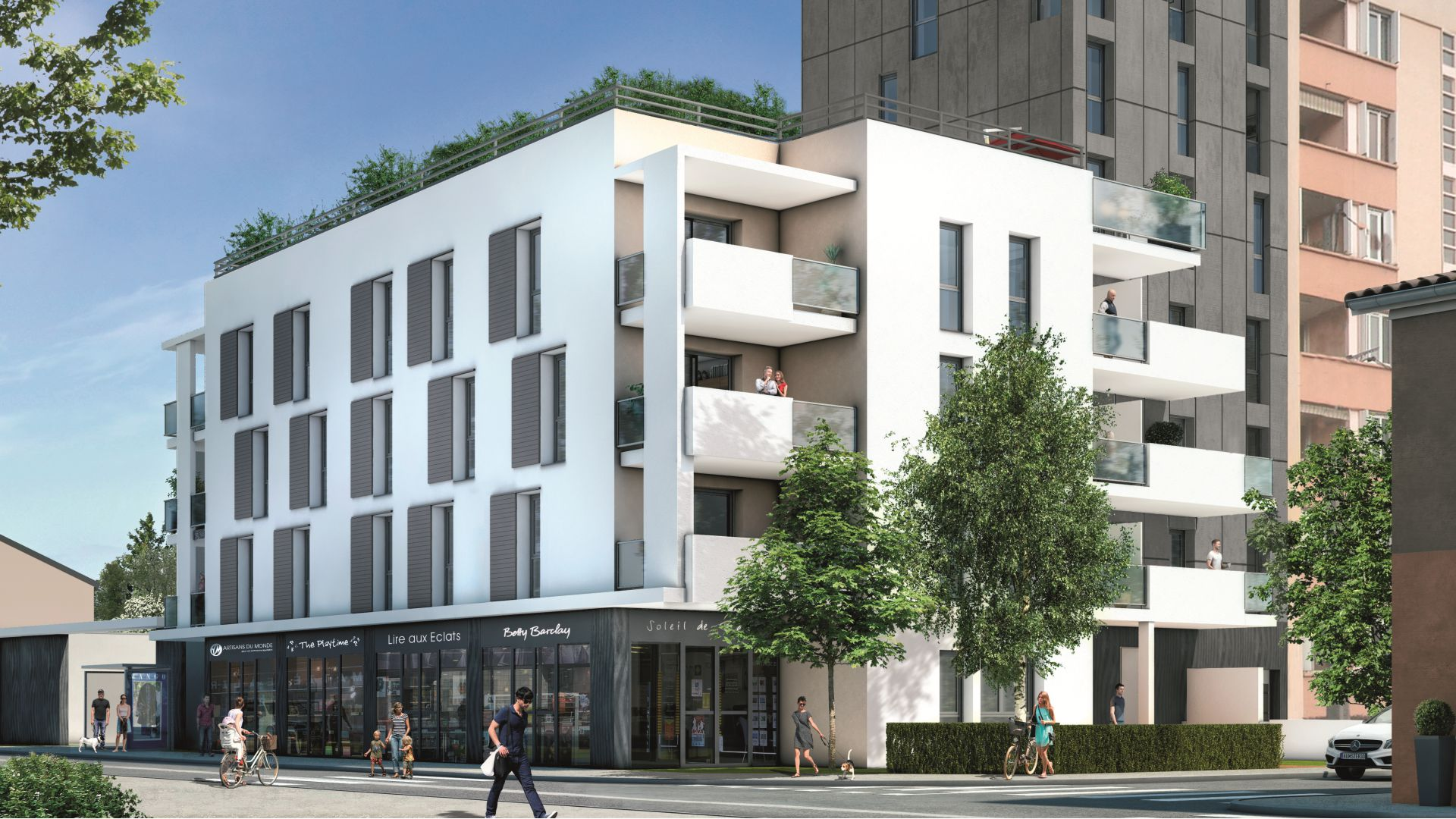 Residence adelie green city immobilier for Appartement atypique lyon 5