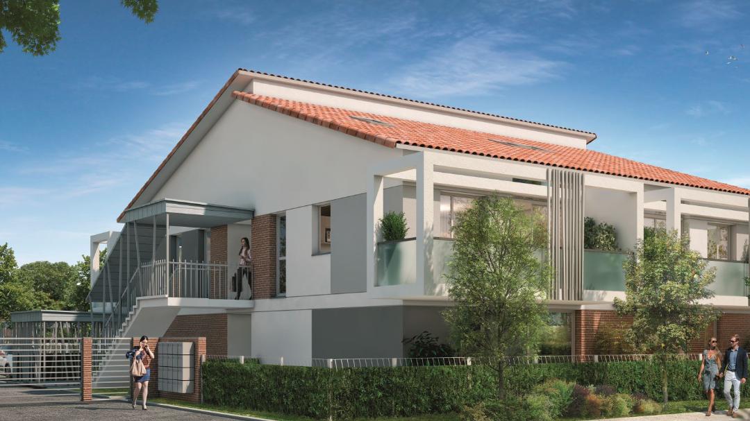 GreenCity immobilier - Toulouse Saint-Simon - 31100 - Résidence Azéria - appartement neuf du T2 au T4 Duplex - vue rue