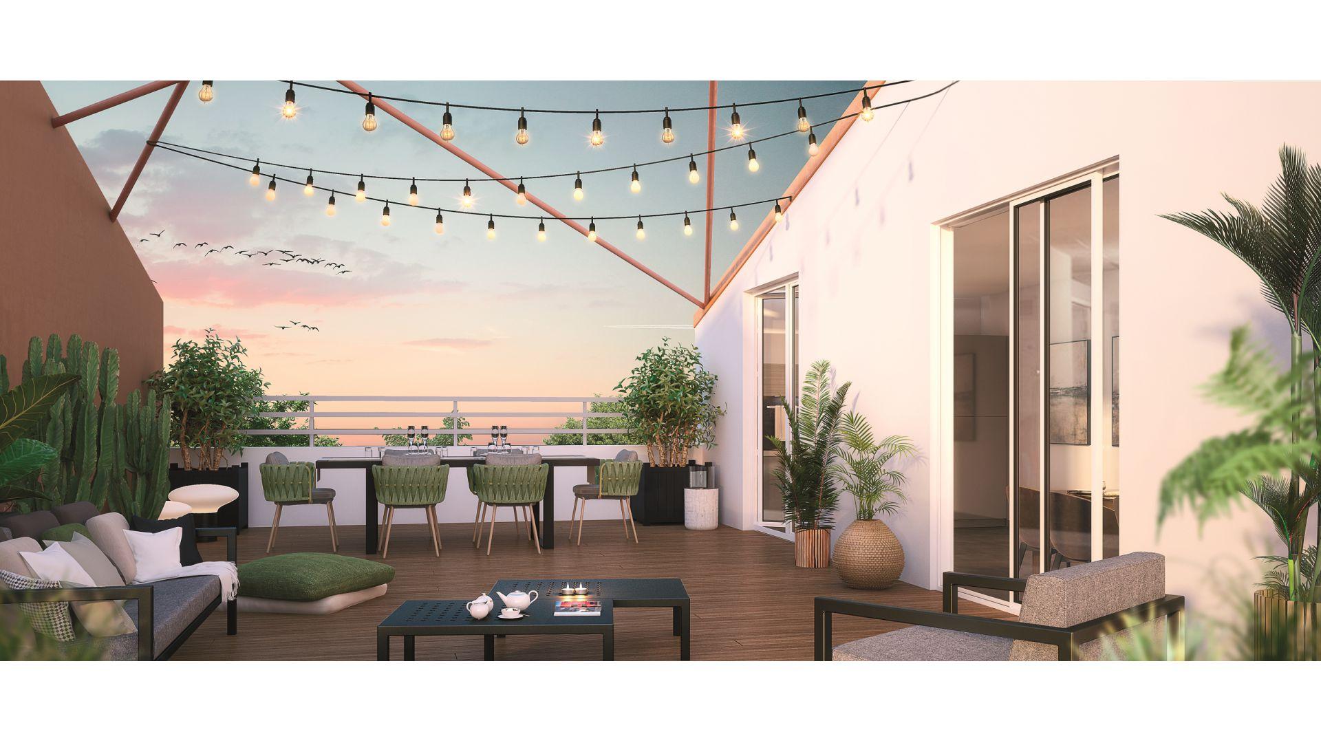 GreenCity immobilier - Sucy en Brie - 94370 - Résidence du Grand val - appartement neuf du T1 au T5 - vue terrasse