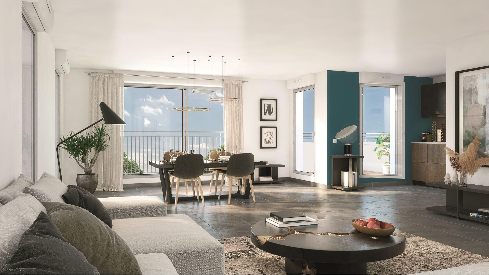 GreenCity immobilier - Champigny sur Marne - 94500 - residence le belvedere - immobilier neuf du T1Bis au T4 - vue intérieure