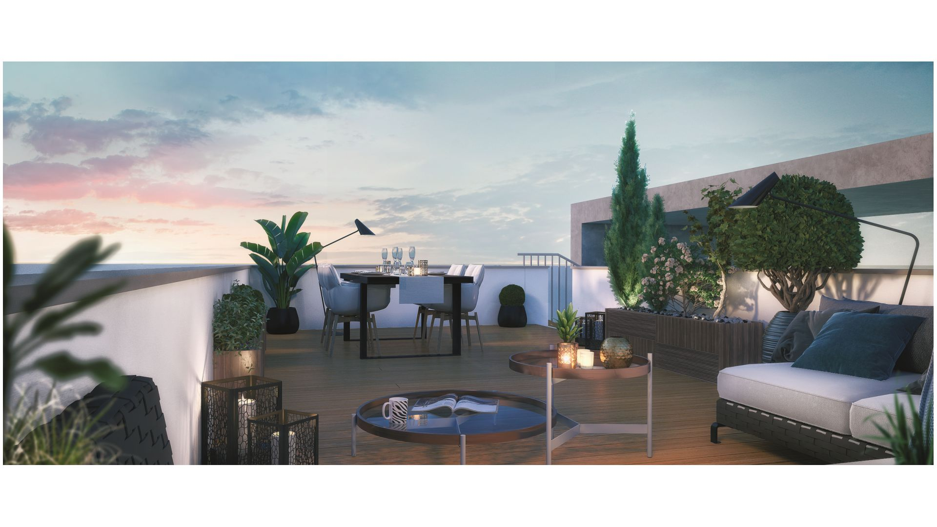 GreenCity immobilier - Champigny sur Marne - 94500 - residence le belvedere - immobilier neuf du T1Bis au T4 - vue terrasse