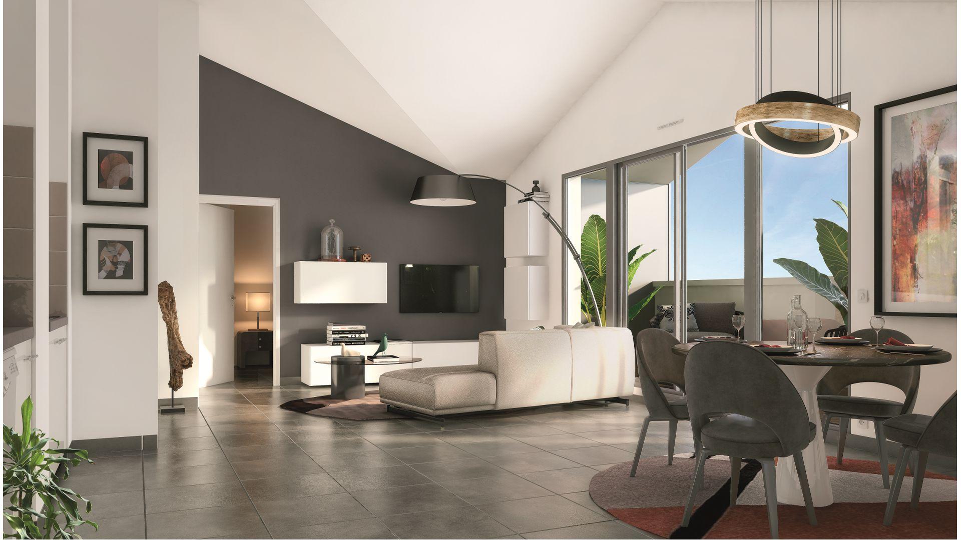 Greencity Immobilier - Résidence Les Beaux Arts - Toulouse Jules Julien - 31400 - vue intérieure