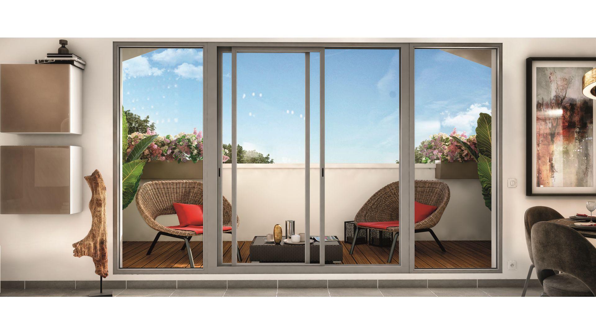 Greencity Immobilier - Résidence Les Beaux Arts - Toulouse Jules Julien - 31400 - vue terrasse