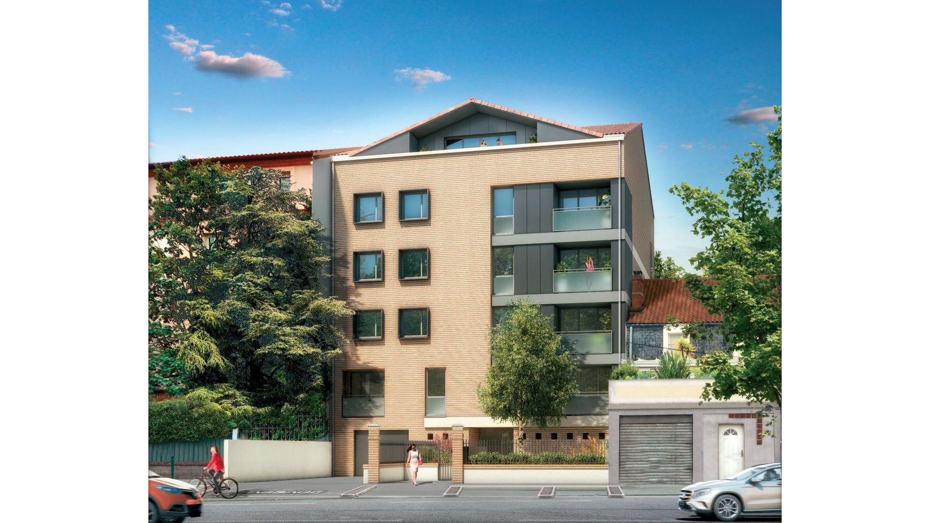 Greencity Immobilier - Résidence Les Beaux Arts - Toulouse Jules Julien - 31400 - vue rue