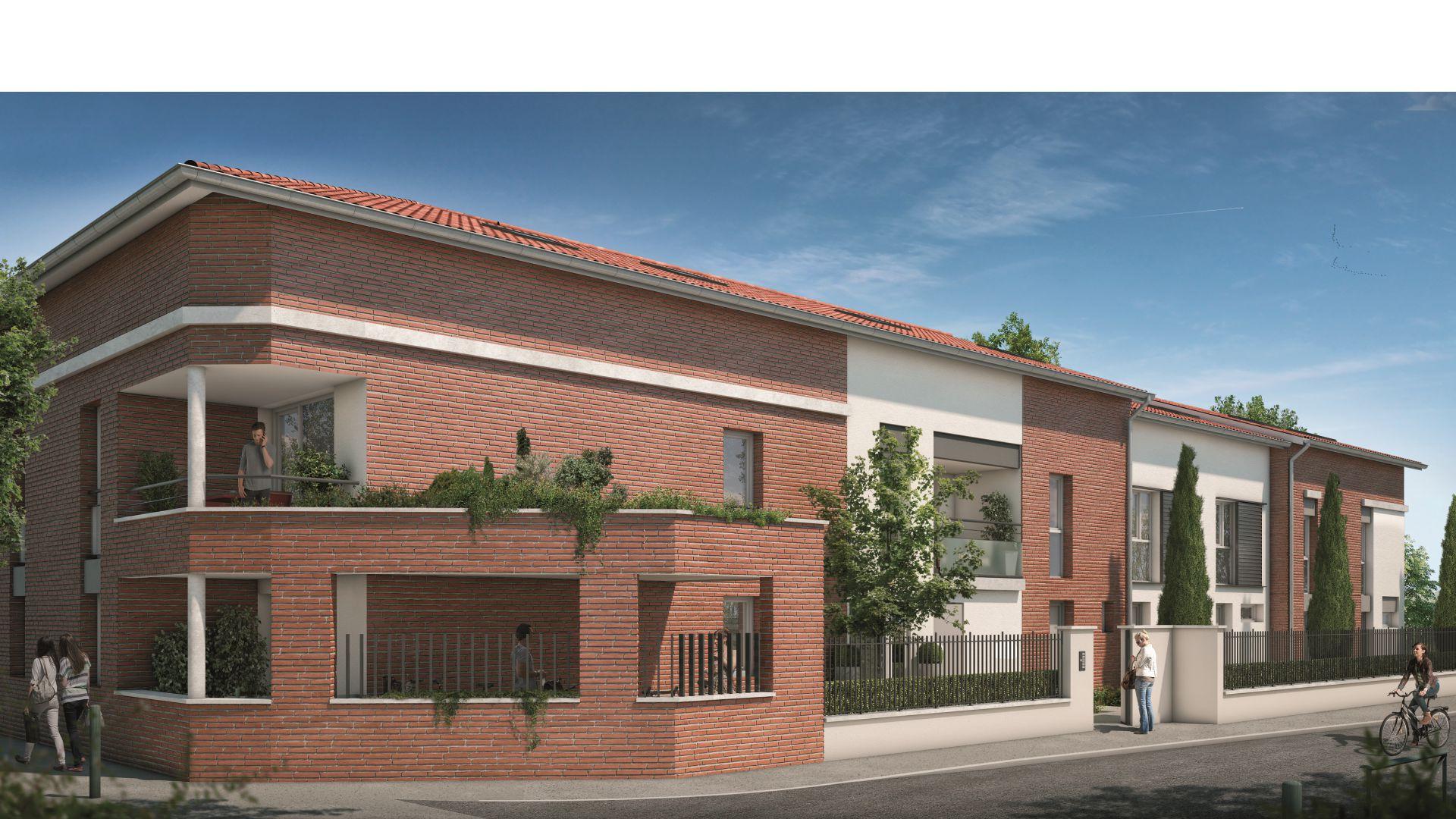 GreenCity immobilier - Toulouse Saint-Simon - 31100 - Résidence Tempo Verde - appartements neufs et villas neuves - vue rue