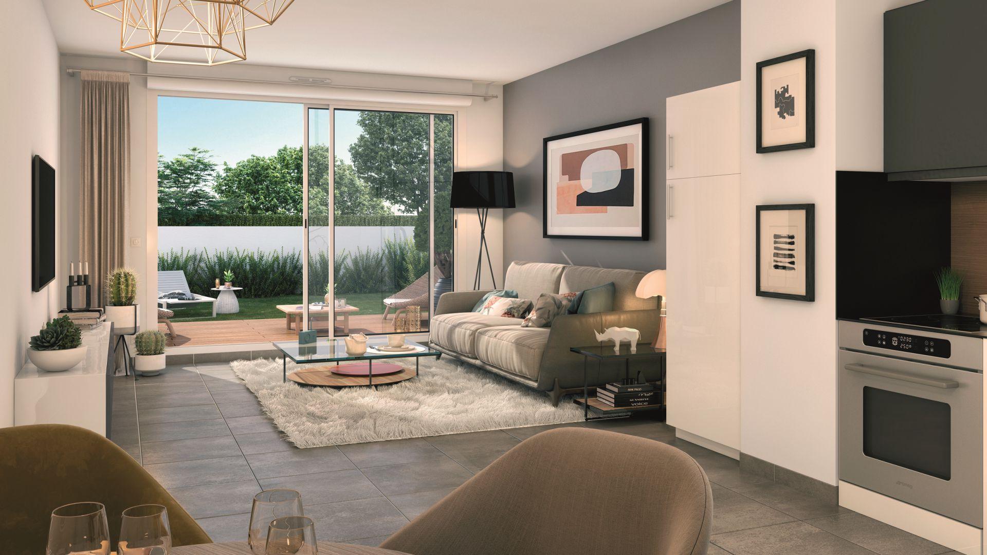 GreenCity immobilier - Toulouse Saint-Simon - 31100 - Résidence Tempo Verde - appartements neufs et villas neuves - vue intérieure