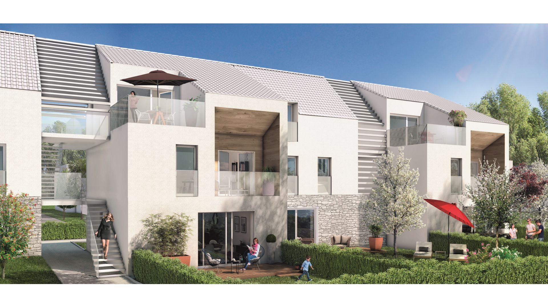GreenCity immobilier - achat appartements neuf - Boissy saint léger 94470 - Résidence Val des Chênes - vue rue