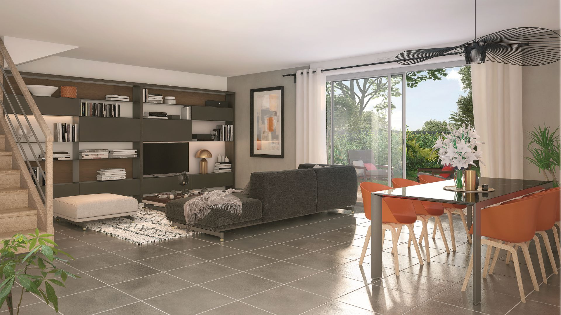 GreenCity immobilier - achat appartements neuf - Boissy saint léger 94470 - Résidence Val des Chênes - vue intérieure