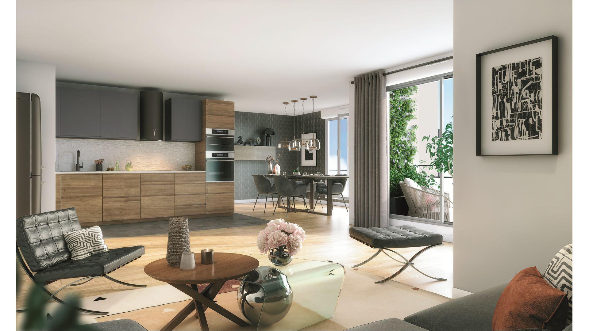 Greencity Immobilier - Résidence Silver Park - achat appartements du T2 au T4 - Le Perreux sur Marne 94170 - vue intérieure