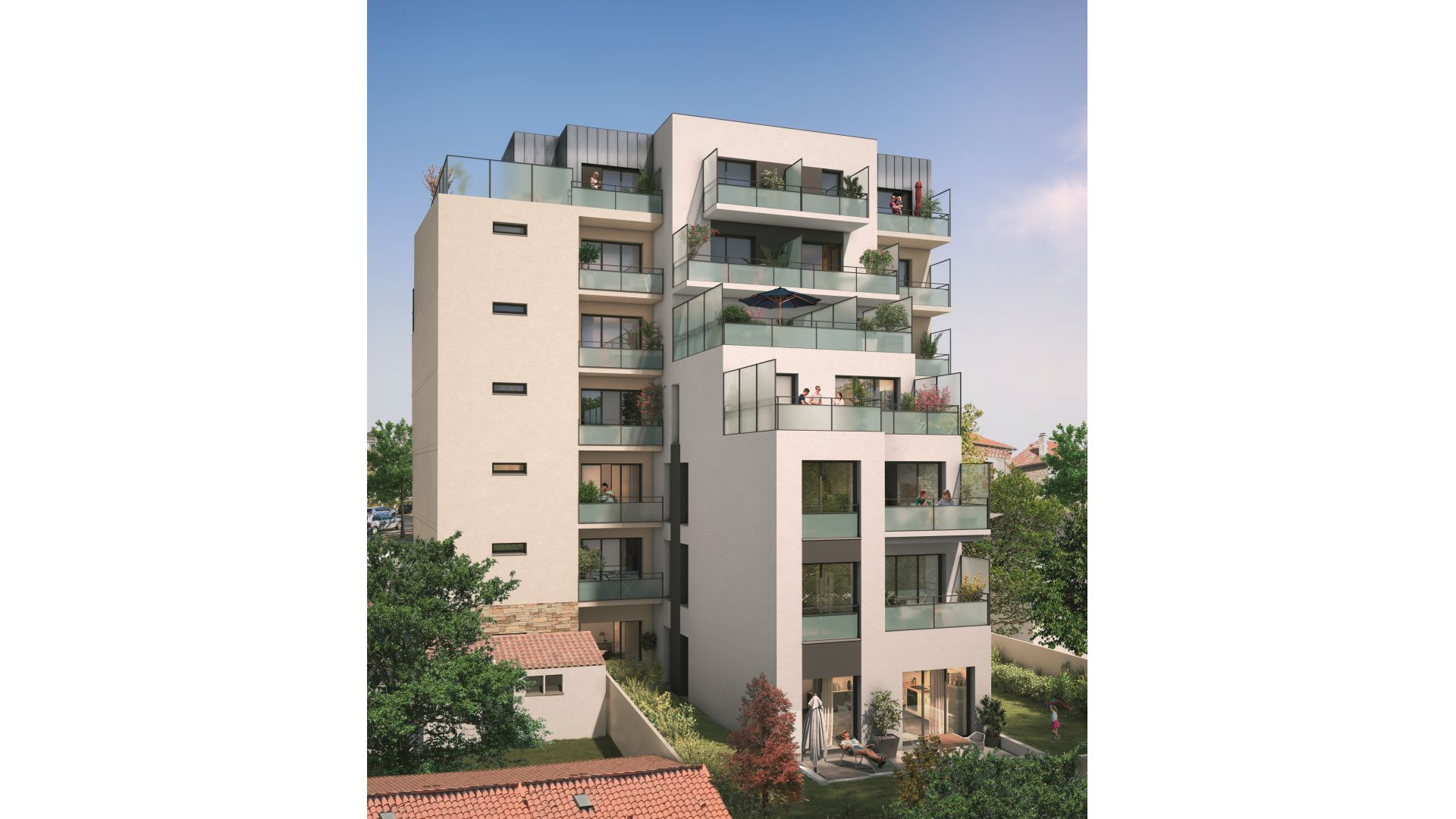 Greencity Immobilier - Résidence Silver Park - achat appartements du T2 au T4 - Le Perreux sur Marne 94170 - vue jardin
