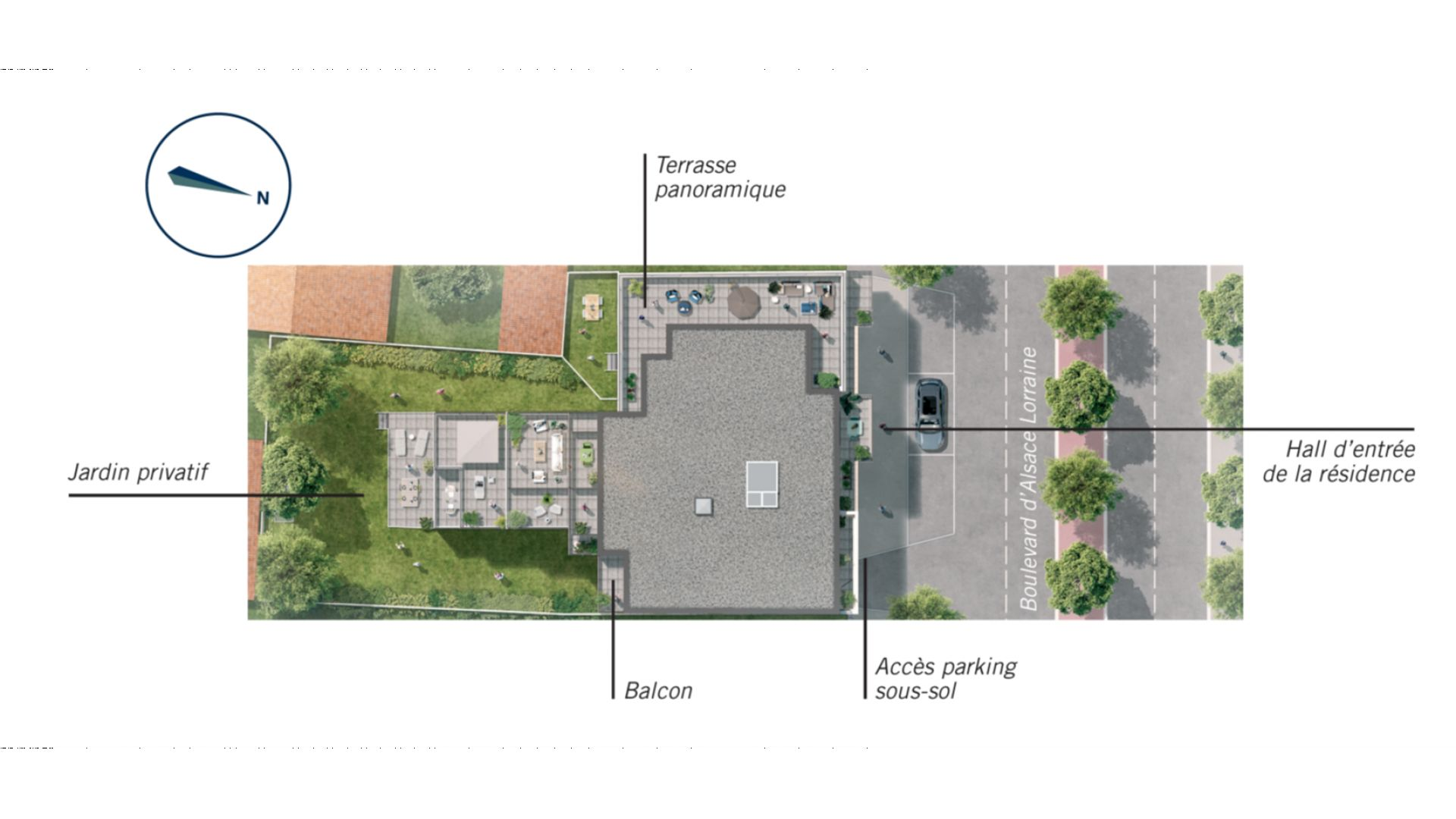 Greencity Immobilier - Résidence Silver Park - achat appartements du T2 au T4 - Le Perreux sur Marne 94170 - plan de masse