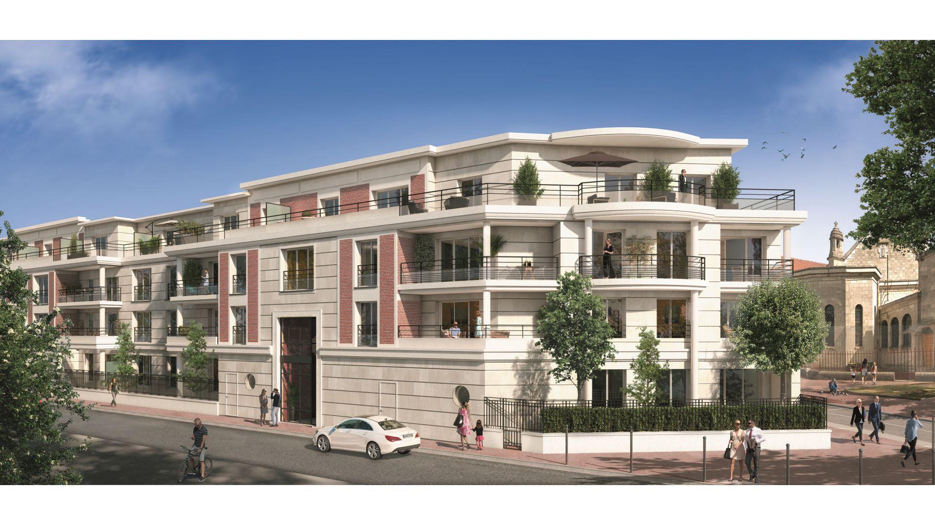 Greencity Immobilier - Square Kennedy - achat appartements du T1 bis au T5 duplex - Saint-Maur des Fossés 94100 - façade