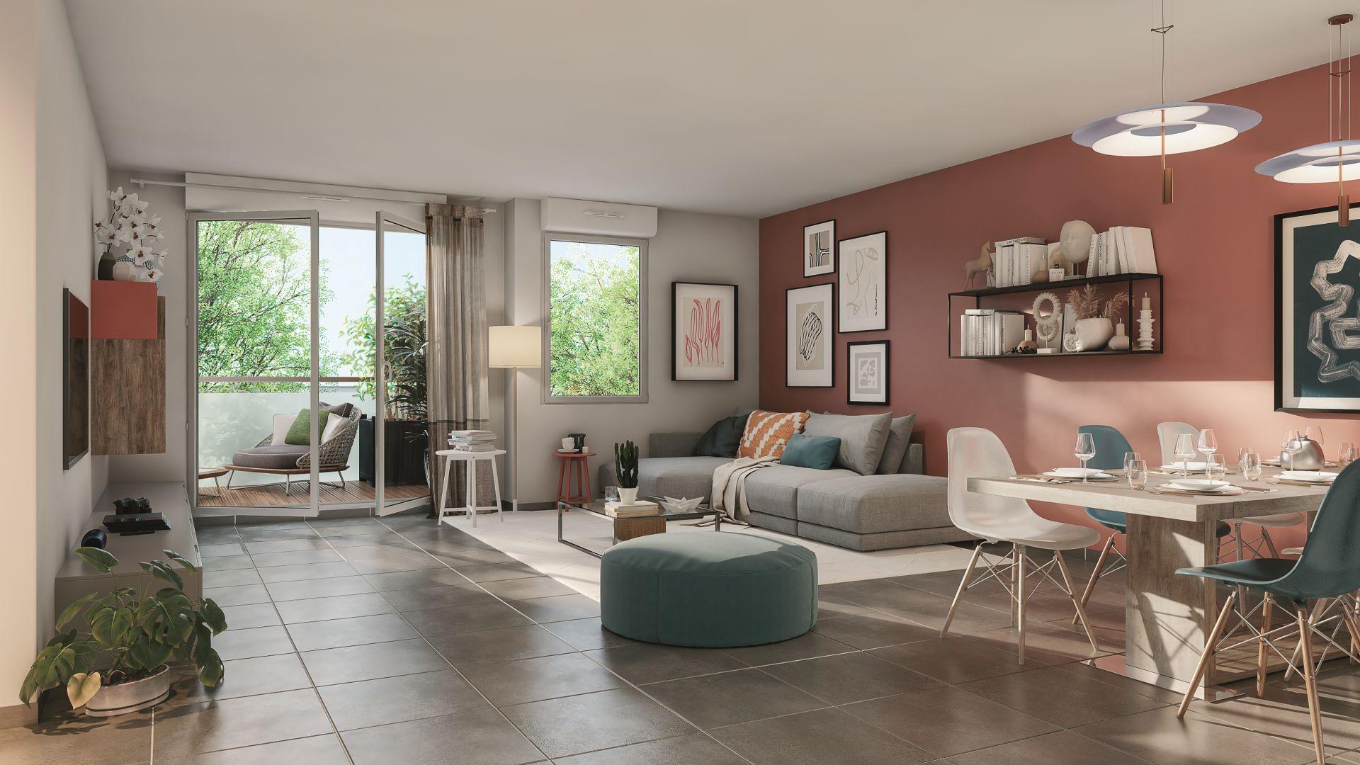 Greencity Immobilier - Résidence Sweet Garden - 31200 Toulouse Bonnefoy - appartements et villas du T2 au T4 - vue intérieure