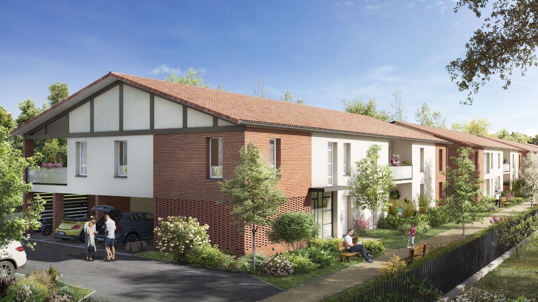 Greencity immobilier - Val Flora - Saint-Alban - 31140 - appartement neuf du T2 au T4 - vue rue