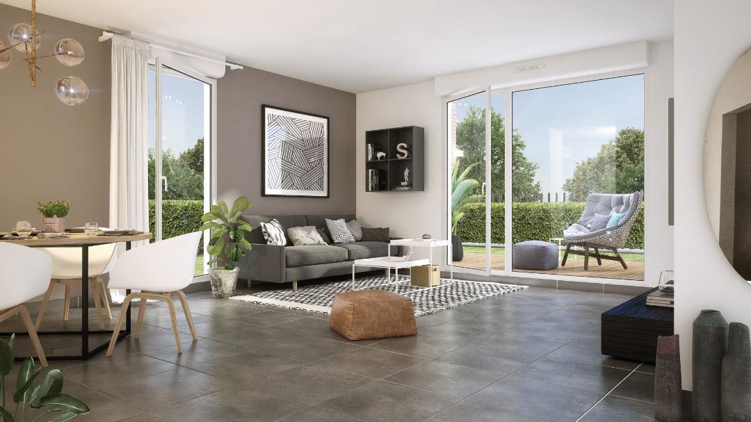 Greencity immobilier - Val Flora - Saint-Alban - 31140 - appartement neuf du T2 au T4 - vue intérieure
