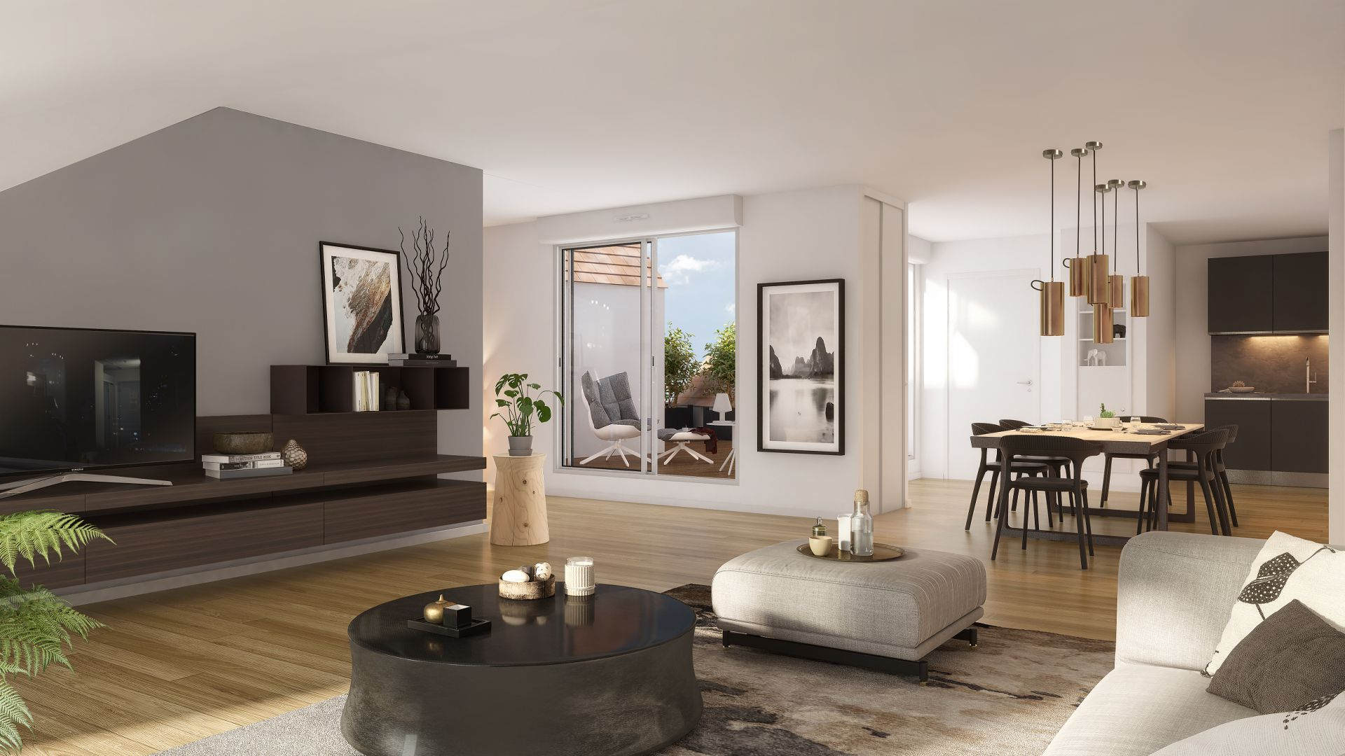 GreenCity immobilier - achat appartement  neuf - Villemomble - 93250 - Villa Castille - vue intérieure