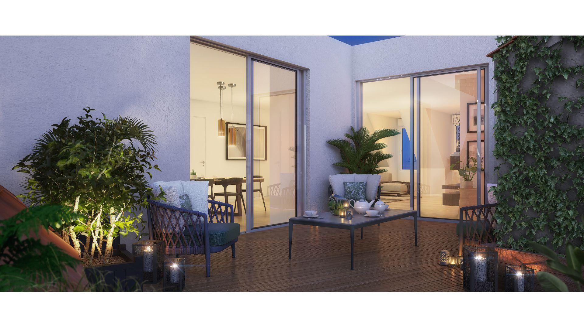 GreenCity immobilier - achat appartement  neuf - Villemomble - 93250 - Villa Castille - vue terrasse